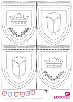 Koningsspelen kleurplaat