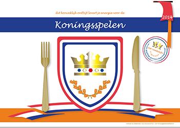 placemat Koningsspelen pakket 2014