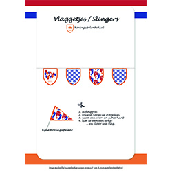 vlaggetjes en slingers (kleurplaat)